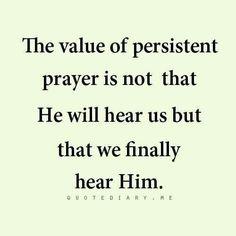 persistence in prayer scripture | Via Karen Lawson