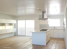 All White Kitchen by Leicht LA