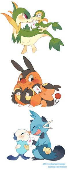 Generation 5 starter pokemon