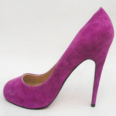 Christian Louboutin Pointed Toe Suede Pumps Dark Pink