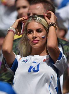 #EURO2016 A Slovakia supporter looks on during Euro 2016 round of 16 football match between Germany and Slovakia at the PierreMauroy stadium in...