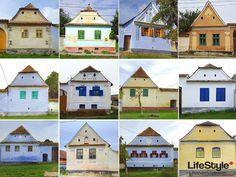 31 de case colorate din satul Viscri, situat la 50 km de Sighișoara, în inima Transilvaniei - fotografii arhitectură Viscri