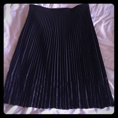 """Black perfectly pleated skirt. Excellent condition black skirt with lace around the hem. The pleats stay perfectly presses even after wearing so no need to iron. Machine washable! Waist 17"""" across, length 28"""".                       NO TRADES Skirts"""