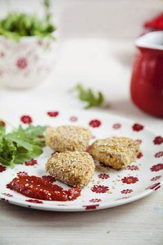 Nuggets vegetales {Sin gluten, sin huevo}