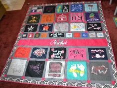 How to Make a T-Shirt Quilt Tutorial - Designing Tomorrow Quilting Tutorials, Quilting Designs, Embroidery Designs, Christmas Rag Quilts, Backing A Quilt, Crafts For Seniors, Senior Crafts, Quilting Board, Basket Quilt