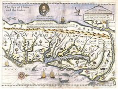 1651 map of Virginia by John Farrer