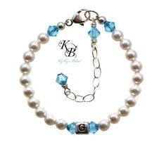 Personalized Flower Girl Bracelet, Personalized Flower Girl Gift, Flower Girl Jewelry, Wedding Jewelry, Initial Bracelet, Girls Jewelry