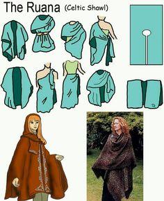 Ruana Celtic shawl More (Diy Clothes) Diy Clothing, Sewing Clothes, Clothing Patterns, Sewing Patterns, Celtic Clothing, Create Clothing, Knitting Patterns, Crochet Patterns, Diy Vetement