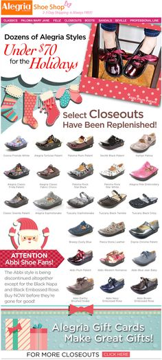 Alegria shoes make great Christmas presents! | Alegria Shoe Shop