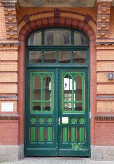 Grüne Tür in Flensburg, Foto: S. Hopp