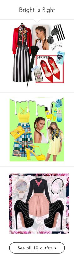 """Bright Is Right"" by luciakesting ❤ liked on Polyvore featuring Marc Jacobs, Carven, Rockins, Yves Saint Laurent, Nivea, L.K.Bennett, LE3NO, Dolce&Gabbana, ASOS and Maybelline"
