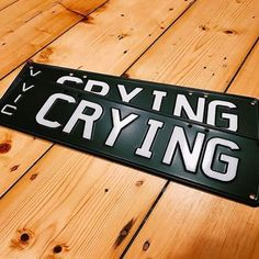 'CRYING' plates in MATTE BLACK // Thanks to for sharing your new custom plates. To be featured share your photo and tag MATTE plates are available in purple, pink, blue, grey and black. Pink Blue, Blue Grey, Custom Plates, Matte Black, Your Photos, Crying, Photo And Video, Inspiration, Instagram
