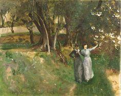 Landscape with Women, 1883 ~ John Singer Sargent ~ (American: 1856-1925)