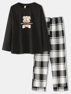 Cute Pajama Sets, Cute Pajamas, Girls Fashion Clothes, Teen Fashion Outfits, Cute Comfy Outfits, Pretty Outfits, Jugend Mode Outfits, Cute Sleepwear, Pajama Outfits