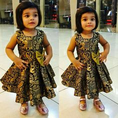 50 New And Unique Baby Frock Designs in 2020 with Images Kids Dress Wear, Kids Party Wear Dresses, Kids Gown, Little Girl Dresses, Girls Dresses Sewing, Kids Wear, Girls Frock Design, Baby Dress Design, Baby Frocks Designs
