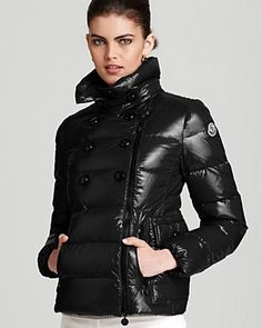 Moncler Daim Lacquer Short Down Coat | Bloomingdale's