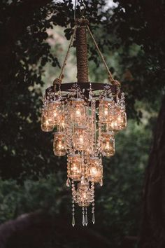 They Can Make A Gorgeous Chandelier! And other cheap ideas for weddings etc