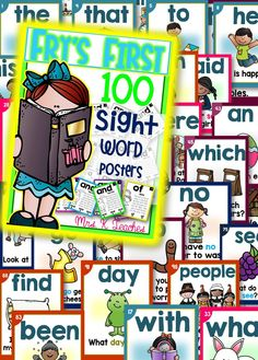 SIGHT WORD SENTENCE CARDS- FRY'S FIRST 100!