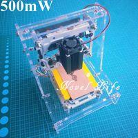 2016 New Benbox 405nm 500mW 0.5W DIY Mini Laser Engraver Engraving Machine Laser Etcher CNC LOGO Printer 3.8X3.8cm