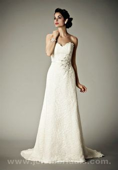 Sabrina sweetheart neckline Lace A-Line Wedding Gown