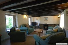 Deceptively large lounge has ample space for dining table and sofas making for a much more sociable atmosphere Cornwall, Sofas, Dining Table, Lounge, Cottage, Couch, Space, Gallery, Furniture