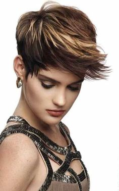 Spikey Pixie Haircut with Long Bangs