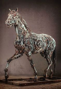 Steampunk Animal Sculptures Made Of Scrap Metal By Hasan Novrozi - Salvaged scrap metal transformed to create graceful kinetic steampunk sculptures