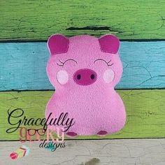 Pig Stuffie ITH Embroidery Design - 5x7 Hoop or larger