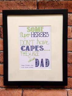 Is your Dad a Superhero? These are personalised prints are perfect gifts from the kids!! Www.facebook.com/emsiesemporium
