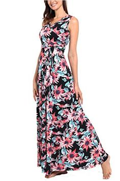Comila Women's Summer V Neck Floral Maxi Dress Casual Long Dresses with Pockets Best Maxi Dresses, Plus Size Maxi Dresses, Petite Dresses, Casual Dresses, Fashion Dresses, Summer Dresses, Long Dresses, Affordable Dresses, Cute Summer Outfits
