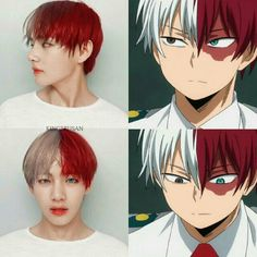 i love this edit Taehyung real life anime. V Chibi, Todoroki Cosplay, My Hero Academia Shouto, Anime Crossover, Boku No Hero Academy, Bts Taehyung, Bts Drawings, Bts Wallpaper, K Pop