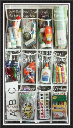 This is my absolutely favorite way to organize. You can see everything at a glance. I have 2 if I had enough room I would line the wall with them lol. Craft room organization - I have these shoe holders in every room