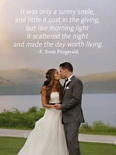 """""""It was only a sunny smile, and little it cost in the giving, but like morning light it scattered the night and made the day worth living."""" - F. Scott Fitzgerald 