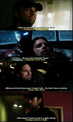 We asked (demanded actually) for Bucky to have more lines, and they gave us what we asked for, but they ended being some of the most heartbreaking lines EVER.