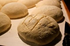 Bread scoring before baking in the Fontana Forni Oven. www.fontanaforniusa.com