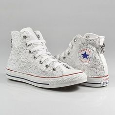 all star converse pizzo bianche