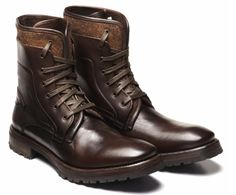 John Varvatos Leather lace-up Work boots  美しい