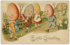 Vintage Postcards to Celebrate Easter Easter Greeting Cards, Vintage Greeting Cards, Vintage Postcards, Vintage Ephemera, Vintage Images, Holiday Postcards, Easter Art, Easter Eggs, Easter Decor