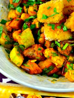 roasted vegetables with roasted cheese croutons