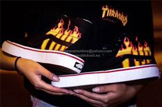 7d1d14b88df Thrasher x Vans SK8 Hi Pro Flame Fire Limited Edition Skateboard Shoes  35-44.5 http
