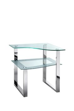 Bering Wave Seed Glass End Table by Every Style Furniture Blowout on @HauteLook