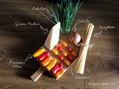 Spaghetti con Pimientos y Cherrys de Colores   Mise en Place Pasta Ligera, Stuffed Peppers, Colors, Mise En Place