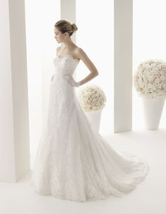 680f3484394f Two by Rosa Clará 2014 Collection. Wedding Dress Train