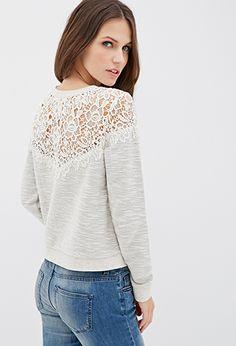 Marled Crochet Top | Forever21 - 2000135759