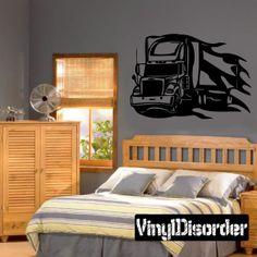 Semi Truck Wall Decal - Vinyl Decal - Car Decal - DC 044