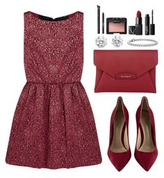 """""""Sem título #125"""" by camaral96 ❤ liked on Polyvore featuring Gianvito Rossi, Kenneth Jay Lane, Alice + Olivia, Givenchy, Blue Nile and NARS Cosmetics"""