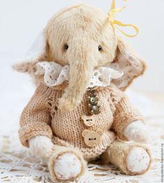 Купить Лиза - Тедди слоненок, милашка - бежевый, слоник тедди, слоненок тедди…