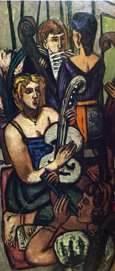 ♪ The Musical Arts ♪ music musician paintings - Max Beckmann