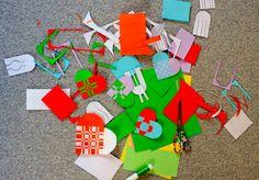 How to make Danish braided Christmas heart decorations