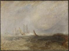 Joseph Mallord William Turner 'Fishing Boats Bringing a Disabled Ship into Port Ruysdael', exhibited 1844